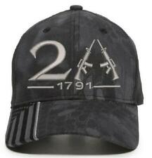 2nd amendment 1791 Cross Guns Embroidered hat Kryptek Typhoon or Highlander