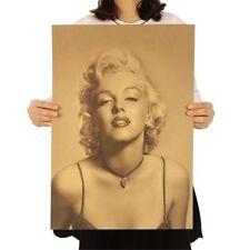Marilyn Monroe Potrait Poster Vintage Retro Wandbild Klassisch Filmstar Deko