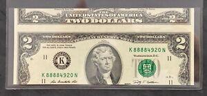 Two Dollar Bill Cutting Error $2 Federal Reserve Error