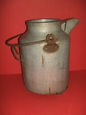 Vintage Three gallon Aluminum Milk Pitcher with pouring spout & carrying handle