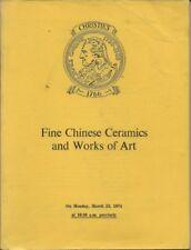 CHRISTIE'S Chinese Ceramics Bronzes Enamels WOA Catalog