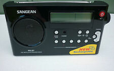 Sangean PR-D7 PRD7BK AM/FM Rechargeable Long Range Radio - Black - Full Warranty