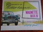 MG Magnette Mark IV brochure Sep 1962