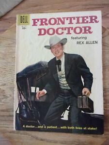 Frontier Doctor Dell # 877 (1957) TV Western photo cover Rex Allen GOOD 3.0