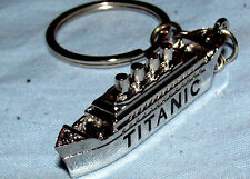 TITANIC Key Ring Disaster Silver Old Ship Novelty Pewter Scale Model Miniature