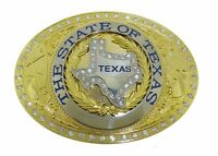 Cowboy Cowgirl State Texas Map Flag Usa Western Rodeo Fashion Metal Belt Buckle.