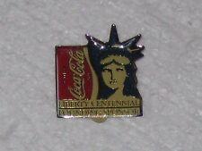 Coca-Cola Statue Of Liberty Centennial Founding Sponsor Pin Pinback