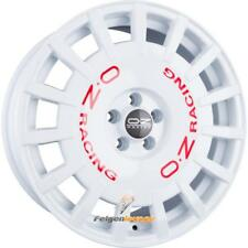 4 Cerchi in lega OZ RALLY RACING RACE WHITE + RED famous 8x17 et35 4x100 68 NUOVO