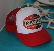 RATTED RAT ROD TRUCKER CAP HAT MESH ADJUSTABLE SIZE SNAPBACK HOT ROD RAT ROD