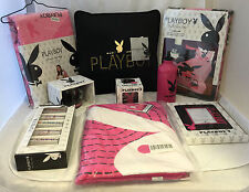 PLAYBOY CHRISTMAS HAMPER DOONA CUSHION  BEAN BAG CUP SHOTS TOWEL FRAME CANDLE