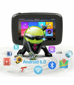 "5"" Bluetooth GPS Navigation  Motorcycle Sat Nav Android WiFi Car Bike Navigator"