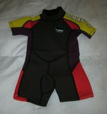 X-MANTA CHILDS / YOUTH / KIDS SHORTY WETSUIT SMALL (S) 100/54 BEACH SURF SWIM