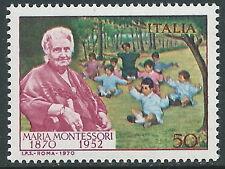 1970 ITALIA MARIA MONTESSORI MNH ** - ED