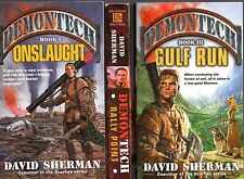 Lot of 3 DEMONTECH novels I, II, III Rally Point Gulf Run Onslaught all PB