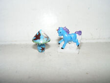 Nostalgie Porzellan-Pferd+Art Deco-Lampe-Kaufladen-Puppenhaus-Puppenstube-1:18