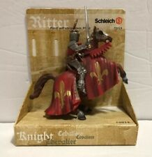 SCHLEICH Prince on Reared Up Horse RED (World of Knights) Retired 2013 NEW