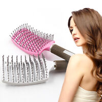 HN- Anti Skid Hair Massage Comb Bristle Brush Hairdressing Styling Tool Striking