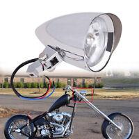 CHOPPER OR CUSTOM MOTORCYCLE HEADLIGHT CLASSIC COBRA CHROME