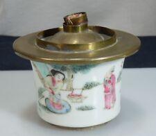 Chinese Porcelain Opium Lamp      51124