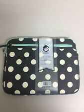 "StudioC Hot to Trot Laptop Sleeve 13""-14"" Teal Accents Poka Dots"