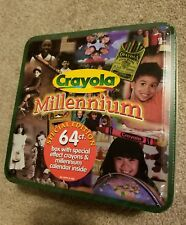 New Retro 1999 Crayola Millennium Special Edition 64 count Tin Nib