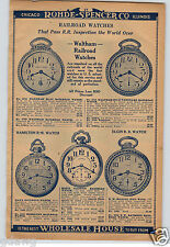 1930 PAPER AD Waltham Railroad Pocket Watch Illinois B W Raymond Vanguard
