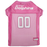 Miami Dolphins Licensed NFL Pets First Dog Pet Mesh Pink Jersey Sizes XS-L