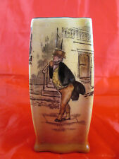 Rare Royal Doulton Mr Pickwick Square Porcelain Spill Vase D5175 Dickens Ware