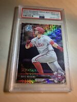 "😳Rhys Hoskins 2017""PSA 10 Gem Mint"" Bowman Chrome Mega Box""Refractor""RC Phila"