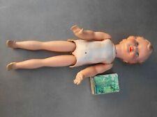 Ancienne poupée GEGE marcheuse en bois et composition année 40. Haut : 41 cm