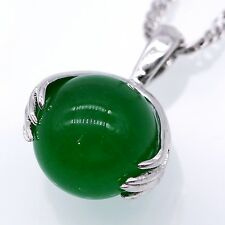 Unique Natural Jade Silver Wing Filled Pendant Silver Plated Women Jewelry