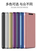 Espejo de galjanoplastia de lujo Abatible Cuero PU Estuche Cubierta para Samsung Galaxy Teléfono Serie