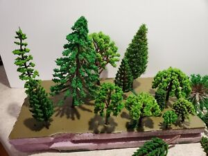 45pcs Assorted Trees For HO Scale Model Railroad Layouts