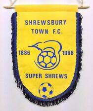 Shrewsbury Town 1986 Centenary Football Pennant
