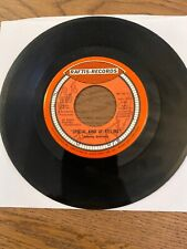 Johnny Stevens Rare Signed 45 Rpm 7 Inch Up On A Cloud RAFTIS RECORDS 1970's