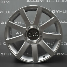 "GENUINE AUDI TT MK1 9 SPOKE RONAL 18"" INCH SILVER ALLOY WHEELS X4 8N0601025S"