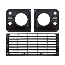 Land Rover Defender 90 110 TD5 Black Headlight Surround & Grill Set Light 98-16