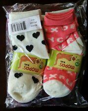 Lot of 12 pairs girls toddler mopas crew sock size 2-3