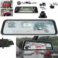 "10"" HD 1080P Car Rear View Mirror DVR Camera Dash Cam Vehicle Streaming Media"