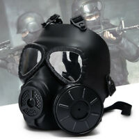 Full Face Tactical Mask Airsoft Paintball with Eye Protective Goggles Toxic Gas