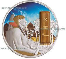 Khafre, Fiji 2013, $50, 2oz Silver Palladium Gold, Tiger's Eye Gemstone, Chefren