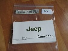 2008 JEEP Compass Owner Owners Owner's Manual OEM