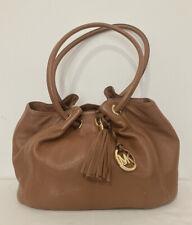 Michael Kors Brown Pebbled Leather Hobo Saddle Bag