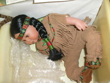 Danbury Mint Artaffects Brave and Free Indian Doll in the Box