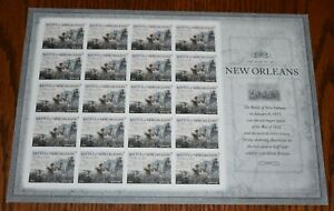 Battle of New Orleans The War of 1812 Sheet Forever Stamps NEW Scott #4952