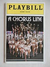 November 1985 - Sam S. Shubert Theatre Playbill - A Chorus Line - Buddy Balou