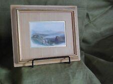 Vintage W. Evans hand colored print framed