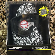 New Jt Alpha Single Pane Paintball Goggle Mask - Limited Edition White Skull