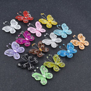 Cute Organza Butterfly Bow Shaped Craft for Wedding Party Decor Charm Crafts New