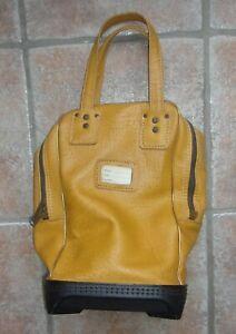 Vintage Wilson Golf Ball Shag Bag Mustard Color